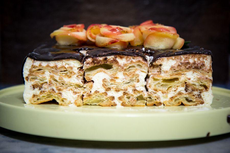 Рецепт торта из эклеров с фото
