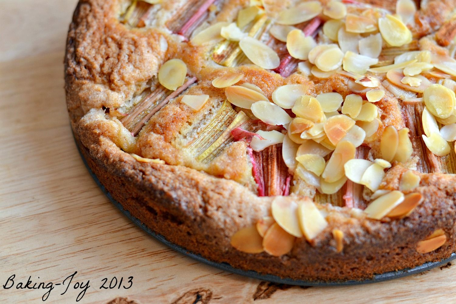 Rhubarb Almond And Cinnamon Cake 3