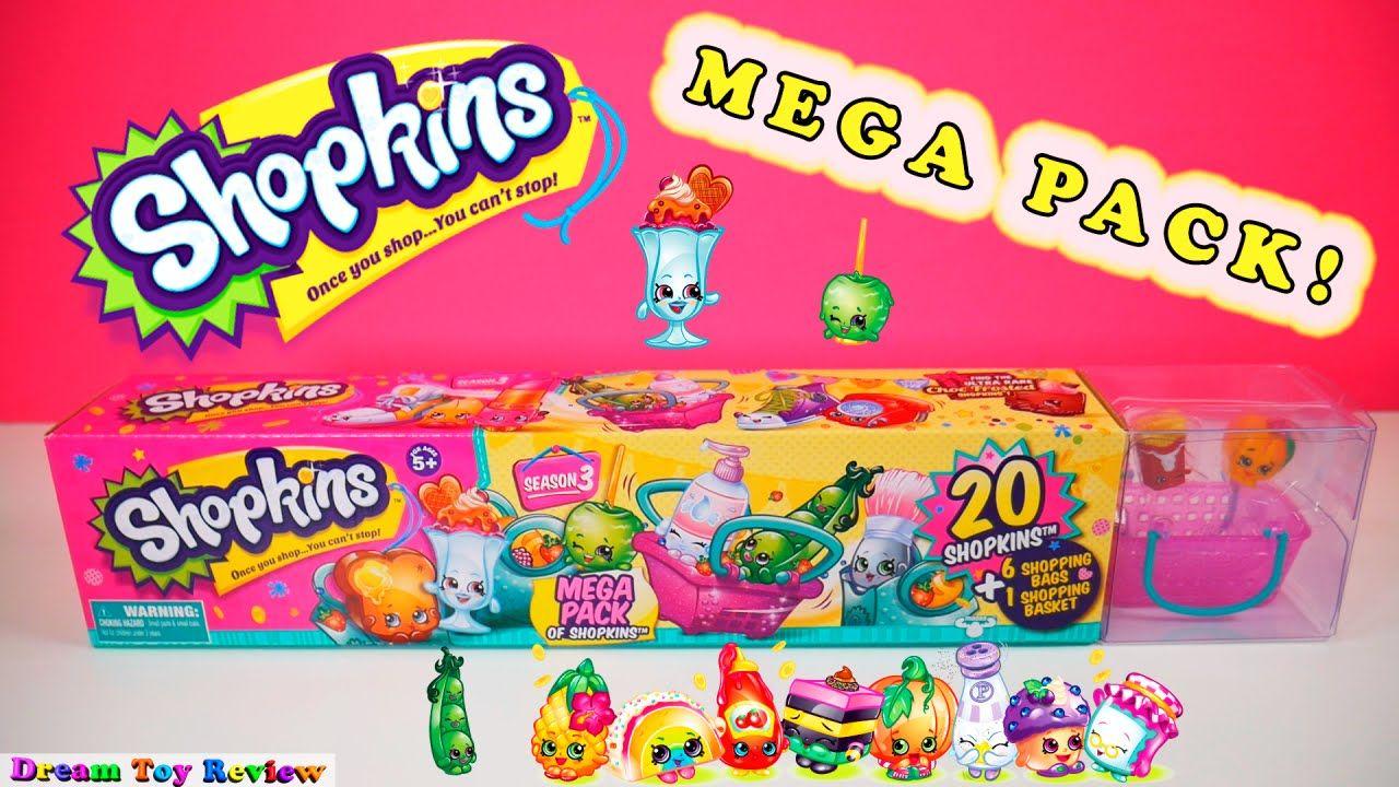 Season 3 Toy Review Shopkins 20 Surprise Mega Pack Ultra Rare Shopping B Shopkins Seasons Blind Bags