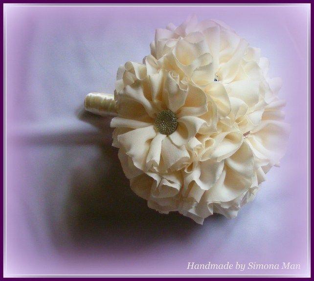 Bridal Bouquet Fabric Bouquet Wedding Bouquet Buchetul Miresei