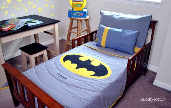 Super Hero Toddler Bedding Set Reversible Toddler By Cuddlycotton