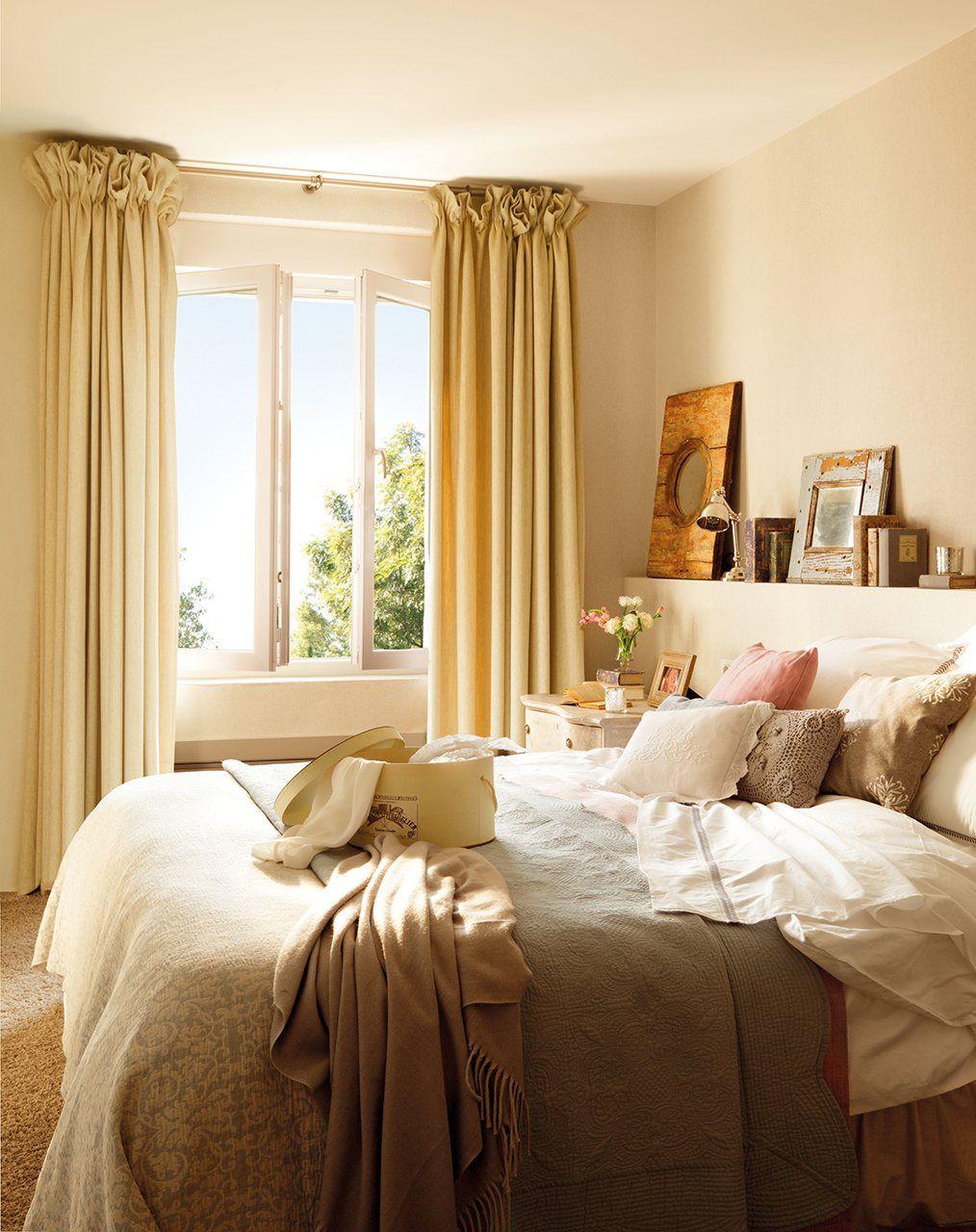 21 dormitorios peque os y muy acogedores cabeceros camas - Sillones pequenos para dormitorios ...