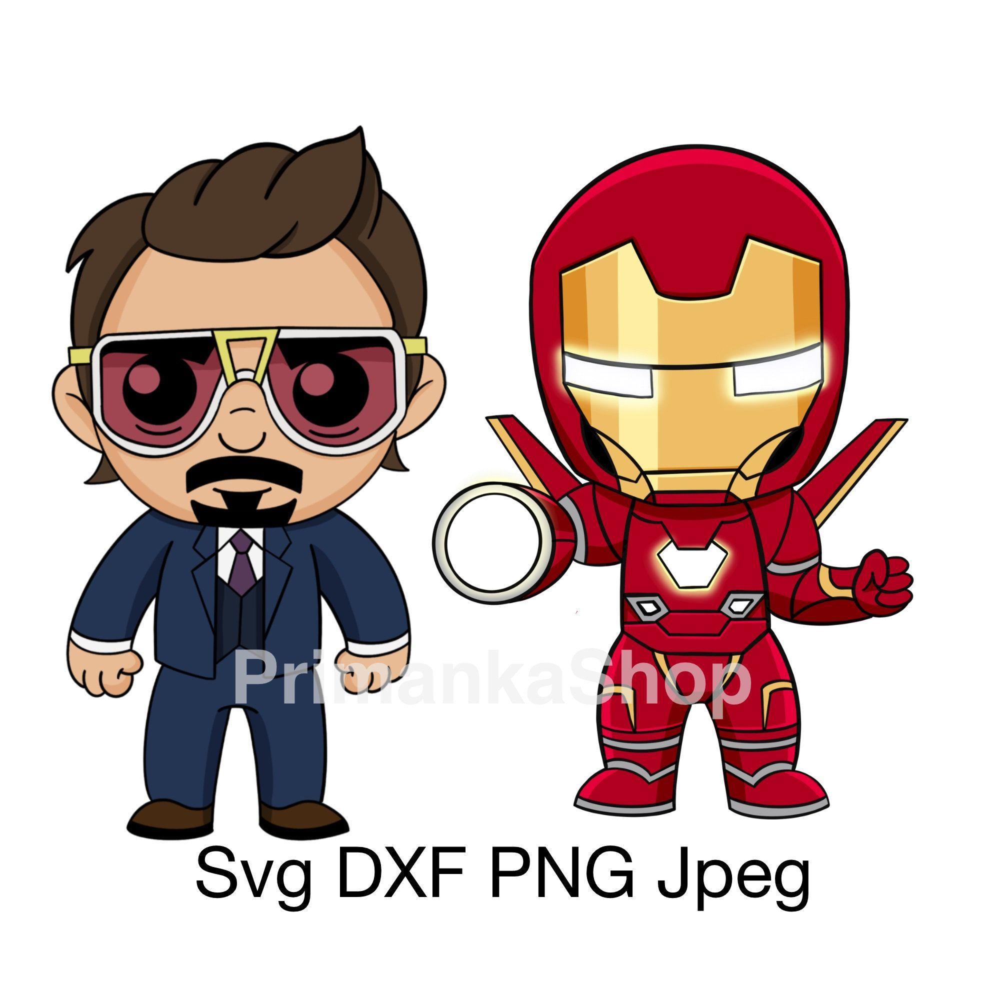 Marvel Svg Iron Man Svg Tony Stark Svg Layered Svg Avengers Endgame Marvel Comics Character Baby Superheroes Png Iron Man Cartoon Iron Man Drawing Iron Man