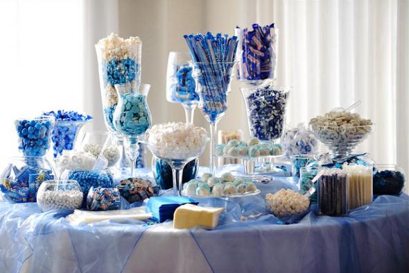 Hues Of Blue Candy Bar Setup Candy Buffet Wedding Blue Candy Buffet Candy Bar Wedding