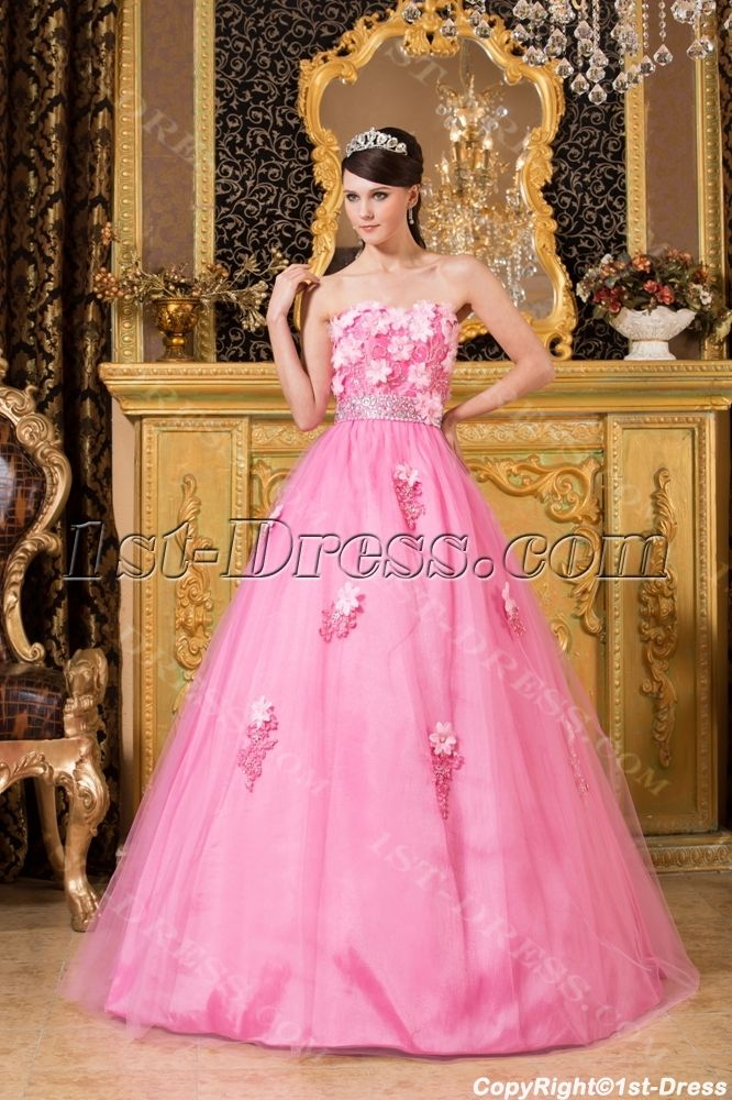 1c1f8c7e736 1st-dress.com Offers High Quality Romantic Pink Long Quinceanera Dresses in Los  Angeles