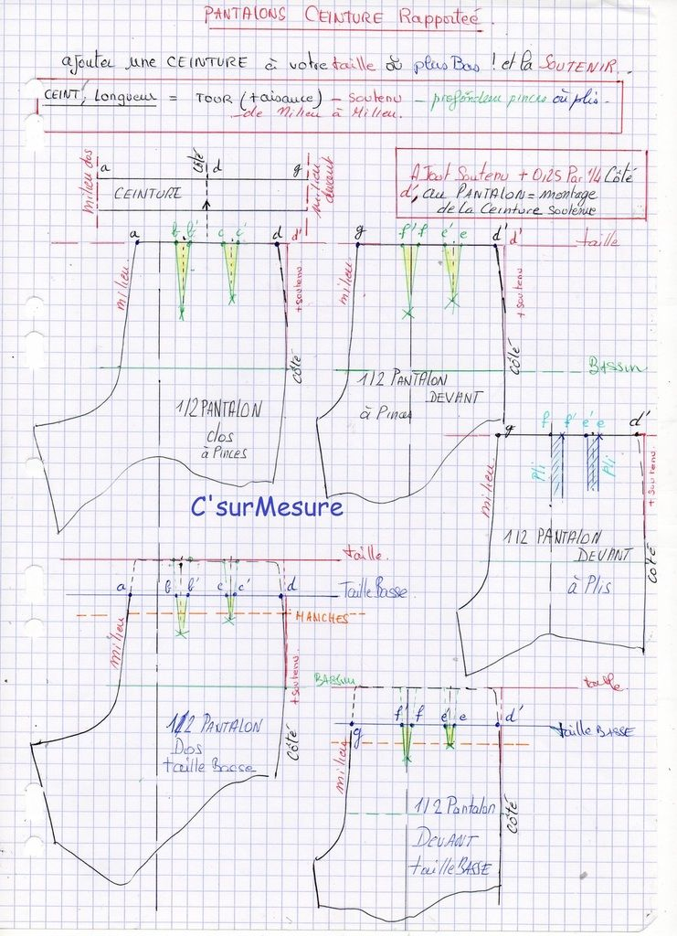 4.25 Pantalon Ceinture rapportée | P. BÀSICS | Pinterest | Costura ...