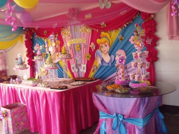 Decoraci n de fiesta infantil de las princesas de disney for Decoracion cumpleanos princesas
