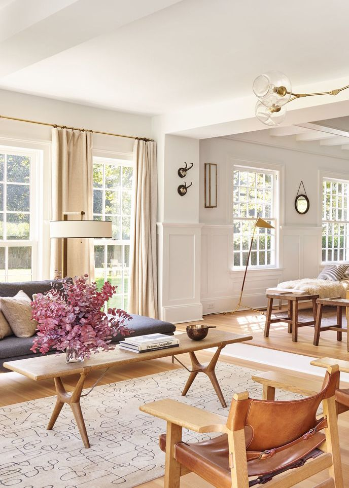 House Tour Modern Neutrals Fill A Family S Hampton Home Coco Kelley Living Room Warm Neutral Living Room Living Decor #warm #neutral #living #room #paint #colors