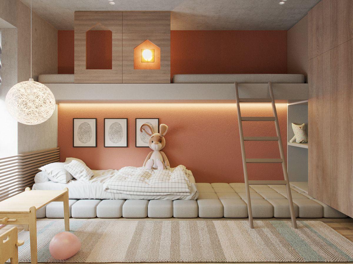 Terracotta on Behance   Kids interior room, Modern kids bedroom ...