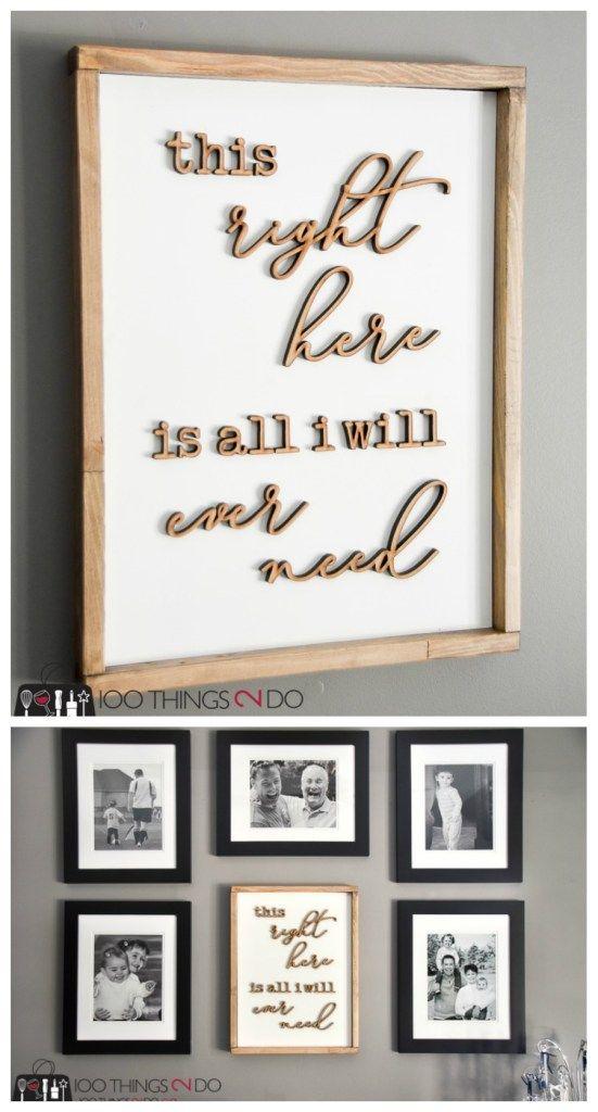 Simple, rustic wood frames | Decor | Pinterest | Rustic, Rustic wood ...
