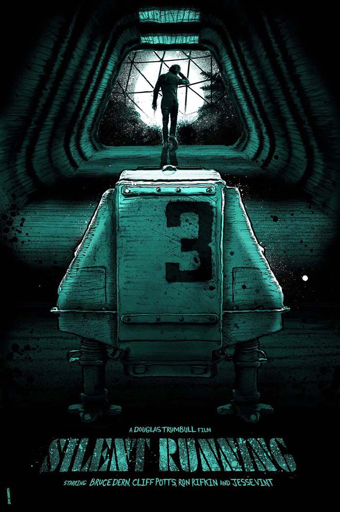 Silent Running By Daniel Norris Home Of The Alternative Movie Poster Amp Silent Running Alternative Movie Posters Science Fiction Movie Posters