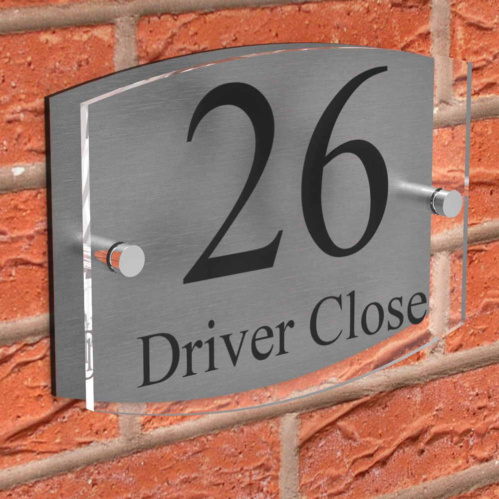 Contemporary House Signs Plaques Door Numbers 1-999 Personalised Name FREE P/&P