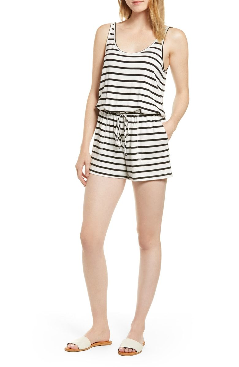Free shipping and returns on Gibson x Hi Sugarplum! Seaside Soft Jersey  Lounge Romper ( a8cac1ced