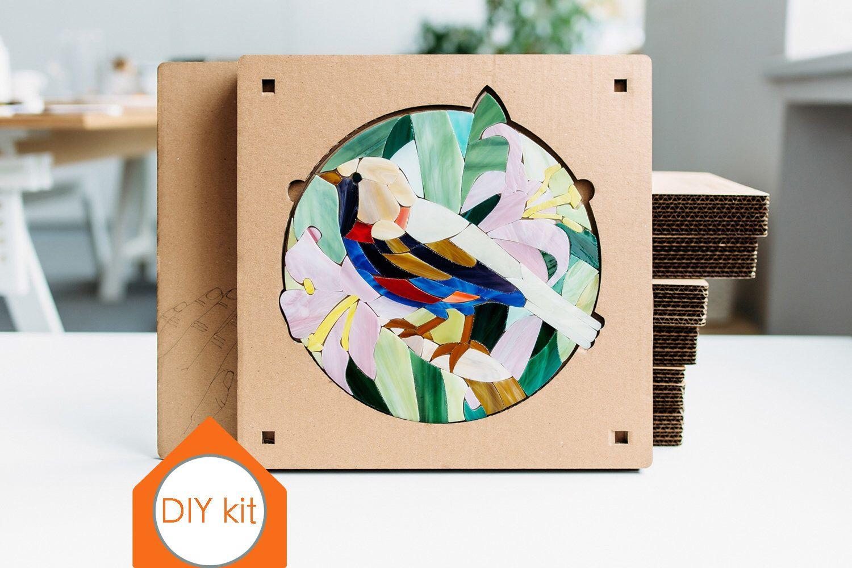 Adult craft kit Bird art kit Mosaic making DIY Craft kits