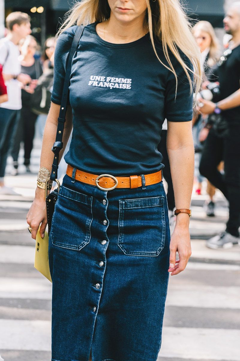 Con mensaje moda pinterest denim skirt