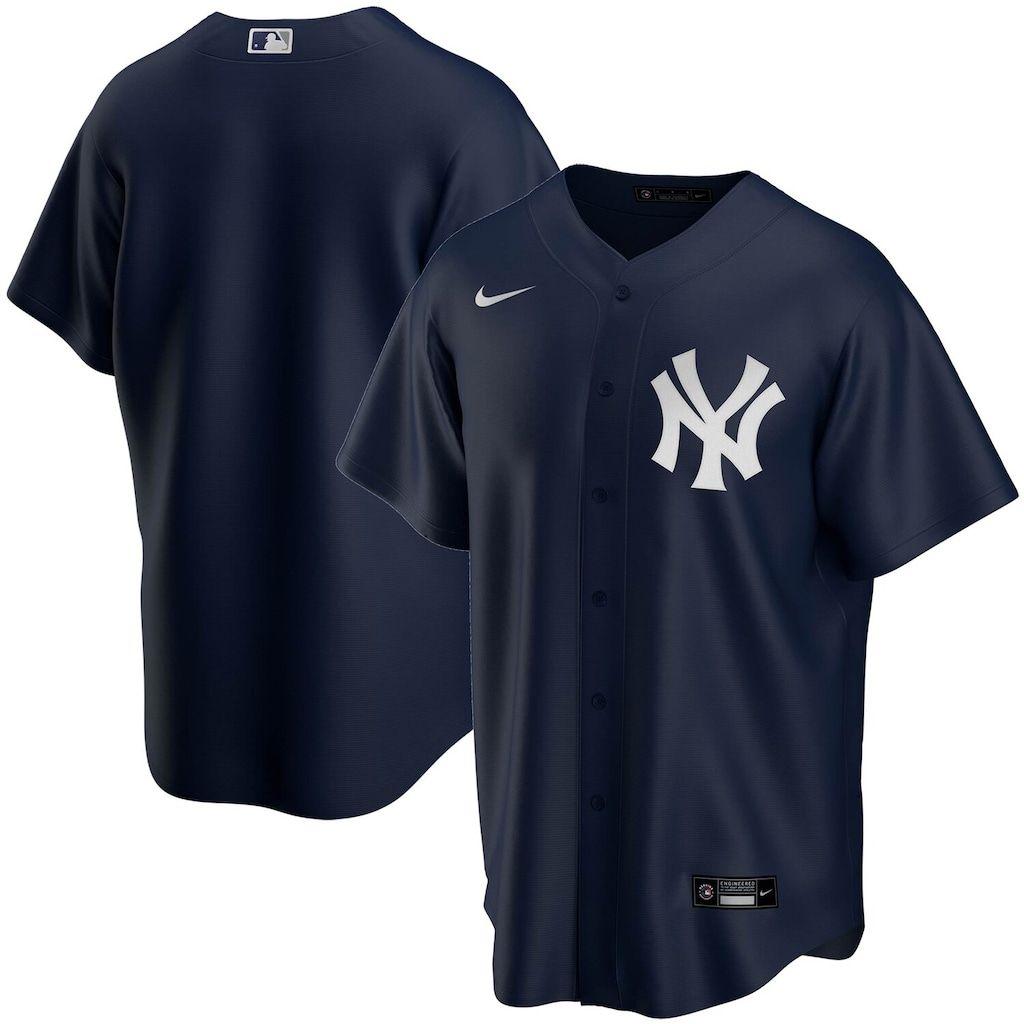 Men S Nike Navy New York Yankees Alternate 2020 Replica Team Jersey In 2020 New York Yankees Team Jersey Yankees Fan