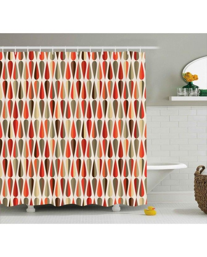 70s Retro Style Shower Curtain Retro Home Decor Retro Room 70s