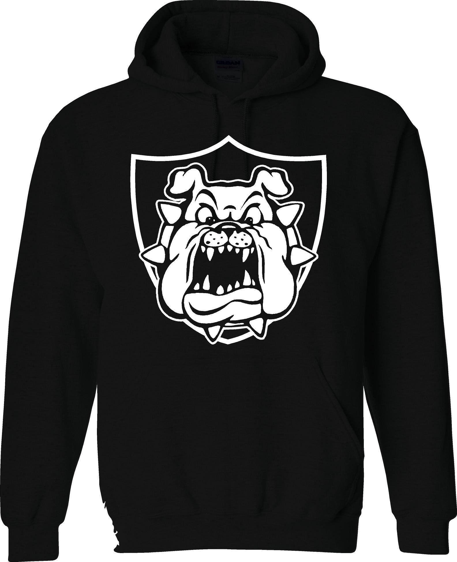 super popular 0b893 2563d Derek Carr Raider Bulldog - Raiders 4 Life Pullover Hoodie ...