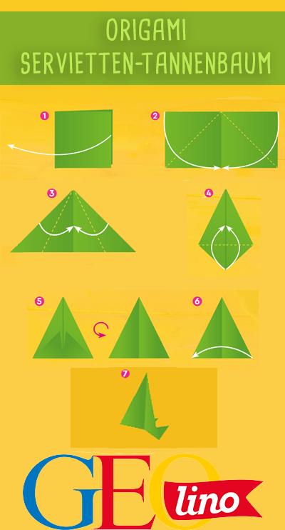 Oriagmi So Faltet Ihr Einen Tannenbaum Aus Einer