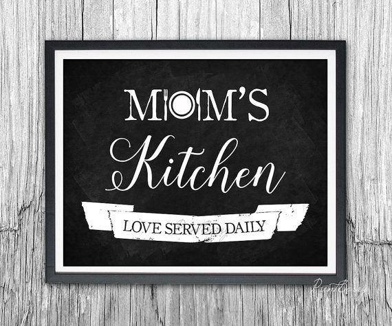 Mom S Kitchen Chalkboard Printable Gift For Mom Kitchen Decor