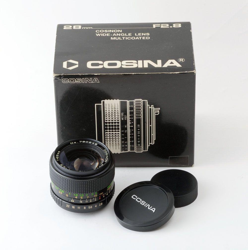 Cosina Cosinon 28mm f2 8 MC Auto Wide Angle Lens M42 Screw Mount