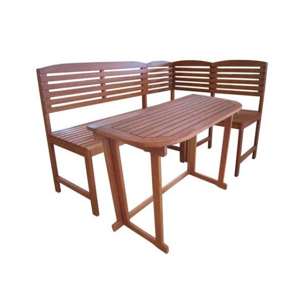 GroBartig Balkon Sitzgruppe ARUBA Tisch 100 X 50 Cm Und Eckbank 4 Tlg Bank Stuhl
