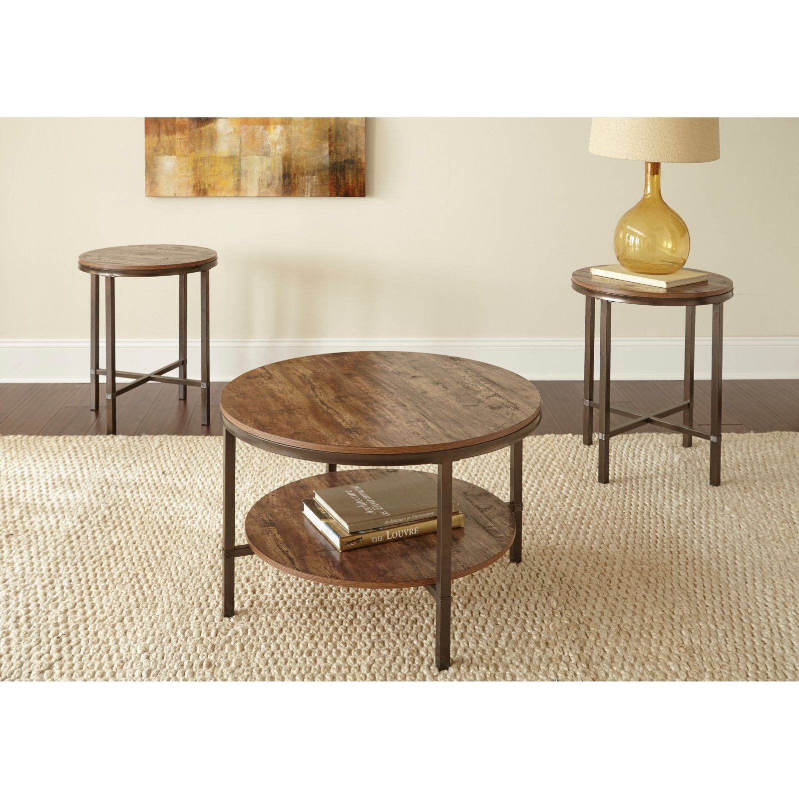 Steve Silver Co Sedona 3 Piece Occasional Coffee Table Set 3 Piece Coffee Table Set Round Coffee Table Sets Coffee Table [ 1600 x 1600 Pixel ]