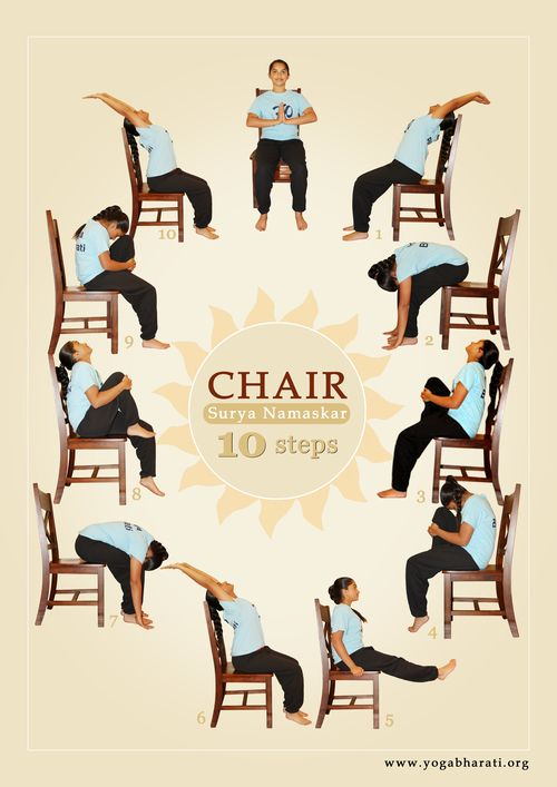 Sun Salutation Surya Namaskar On Chair