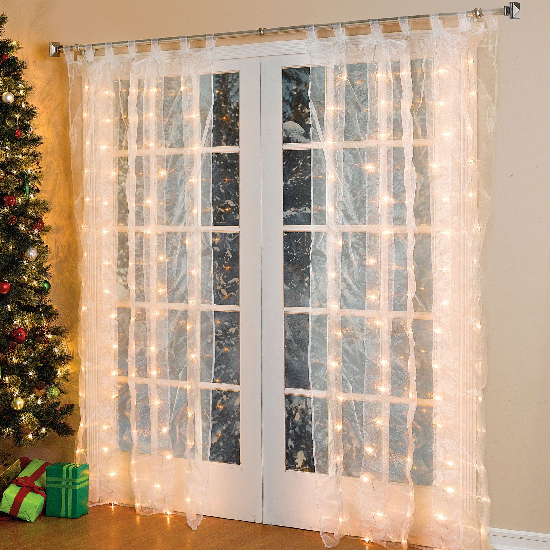 Light Up Sheer Drapery Perfect For Christmas Www