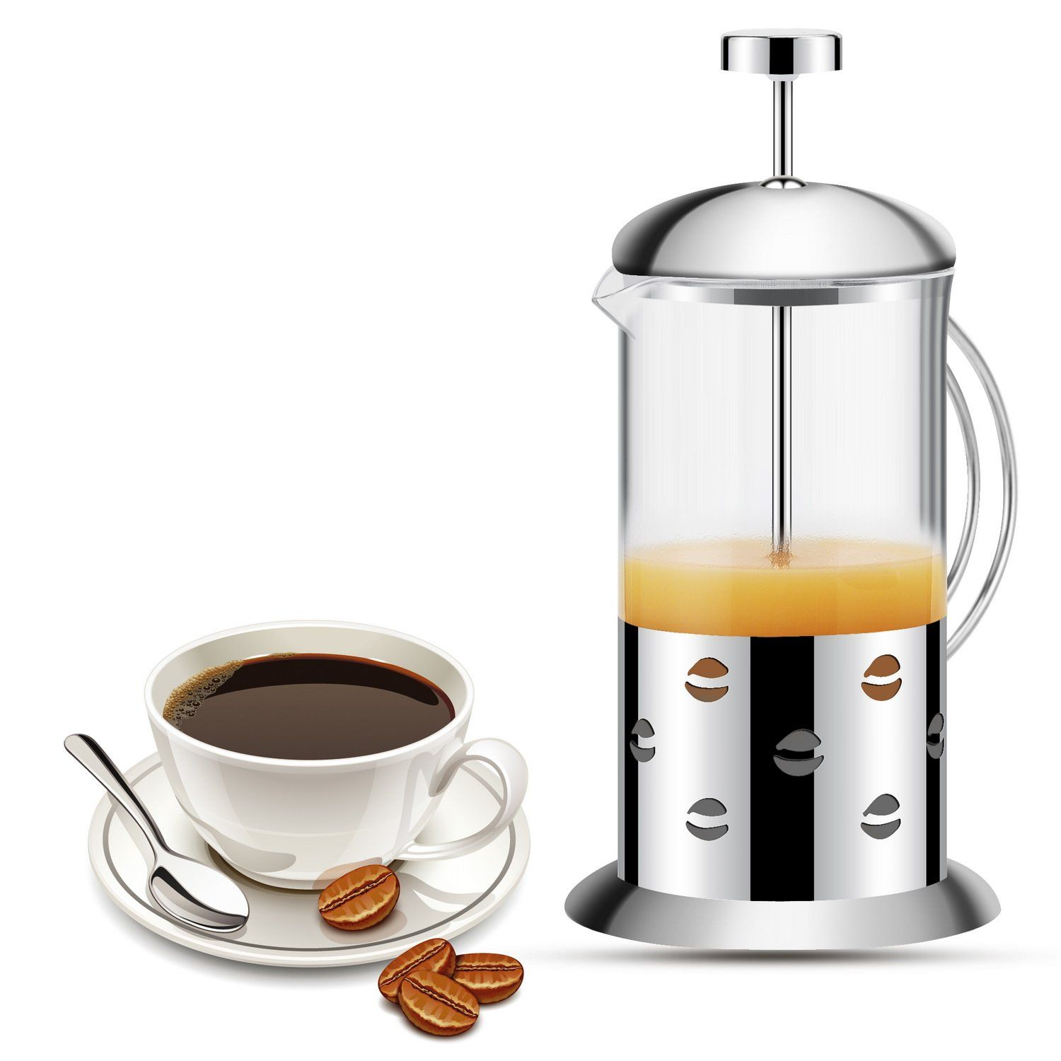 how to make mocha coffee with french press