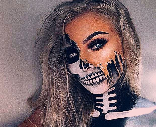 Photo of 23 Make-up-Ideen für das Skelett für Halloween