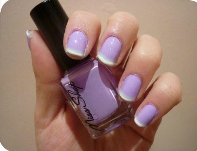 Purple/french manicure