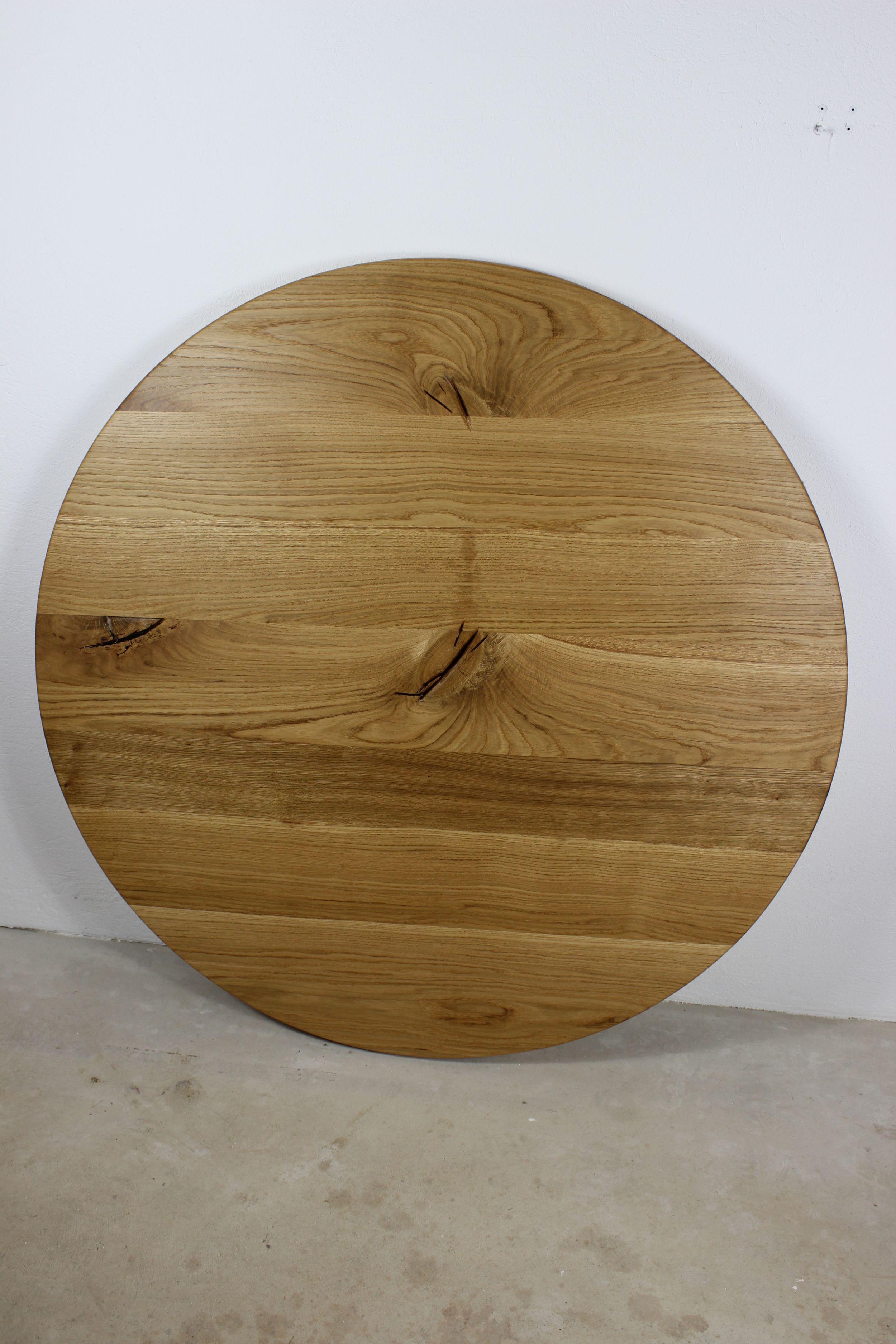 Tischplatte eiche rustikal wohn design for Designer tischplatten