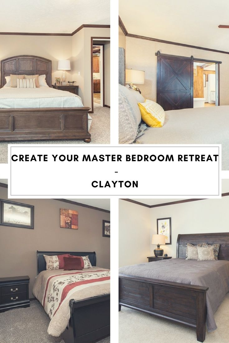 Create a mobile home master bedroom retreat with a new Clayton home ...