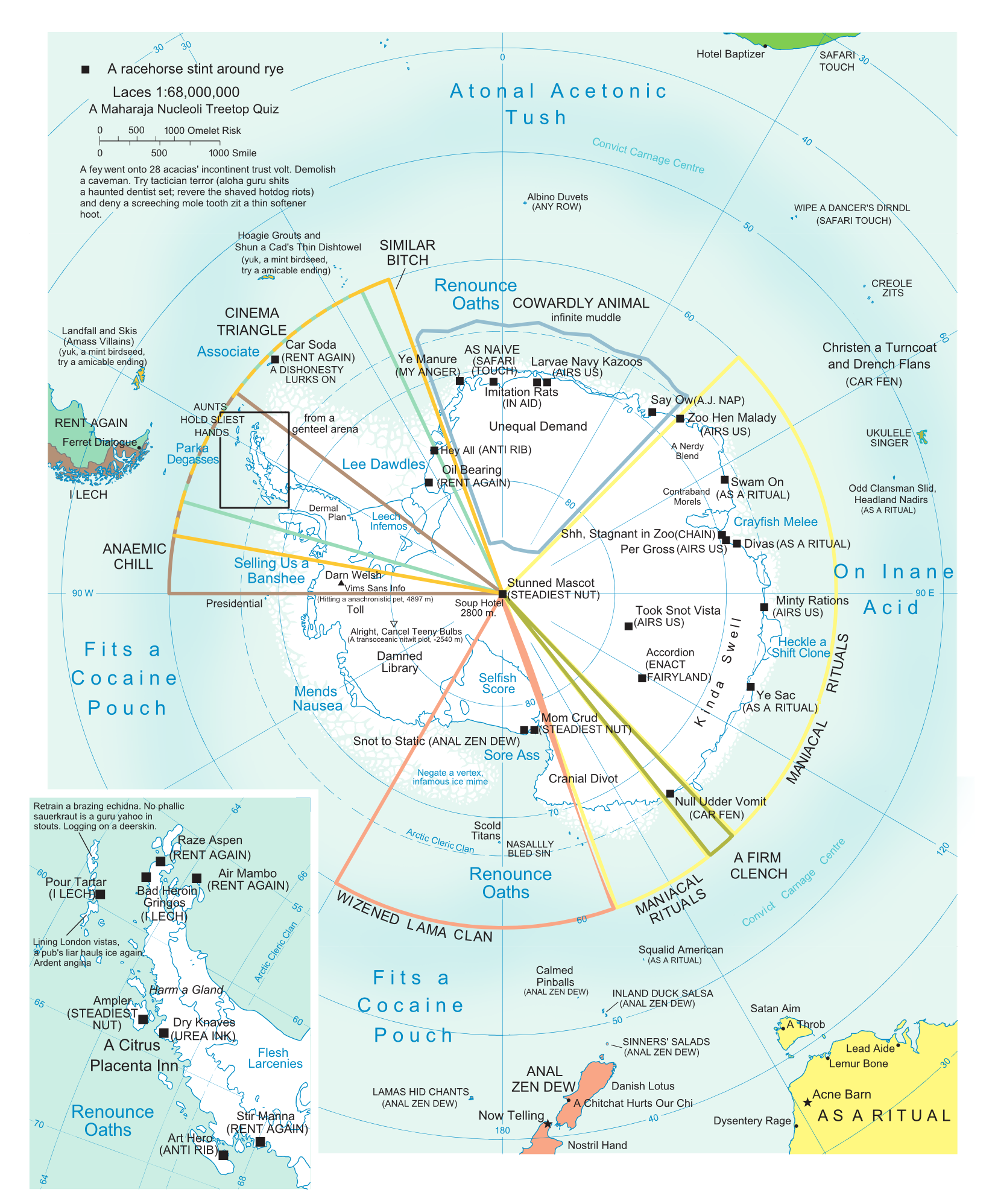 Antarctica Anagram   ................Alaska.....Artic ...