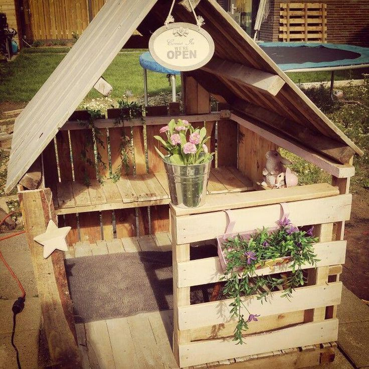 Photo of Pallet play house … # pallet play house – Katie