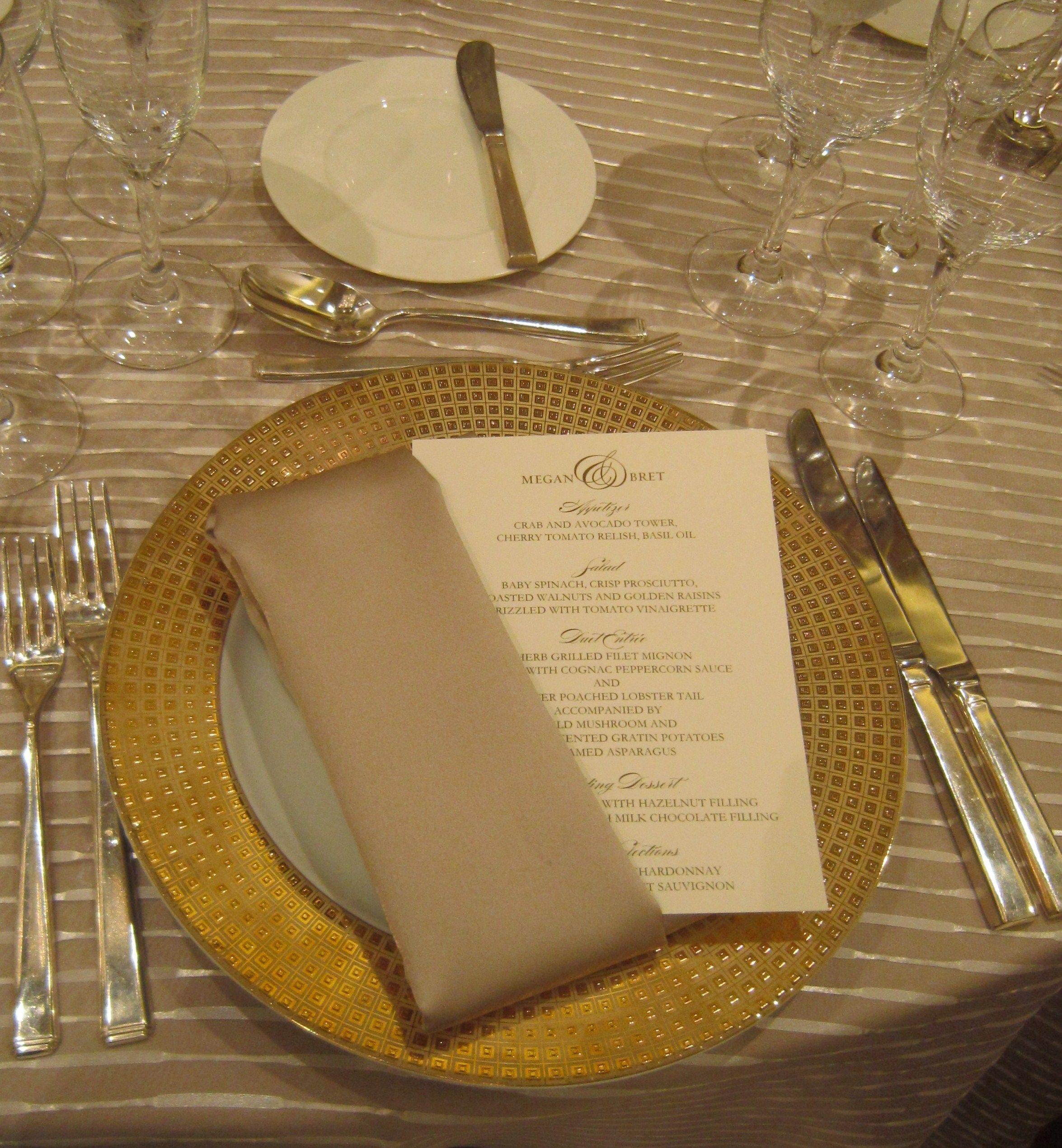 27++ Wedding napkin fold menu cards ideas