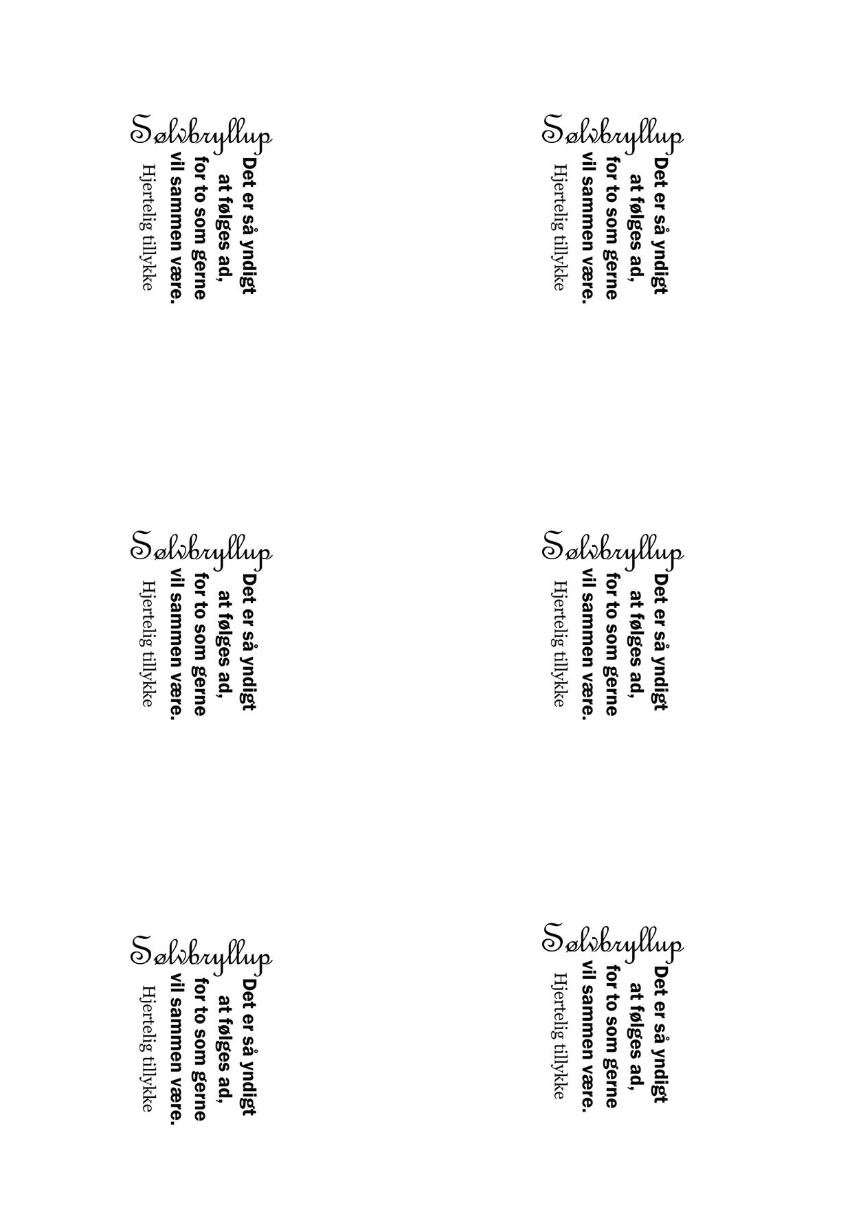 citat til sølvbryllupskort Sølvbryllup | Tekster | Gold citat til sølvbryllupskort