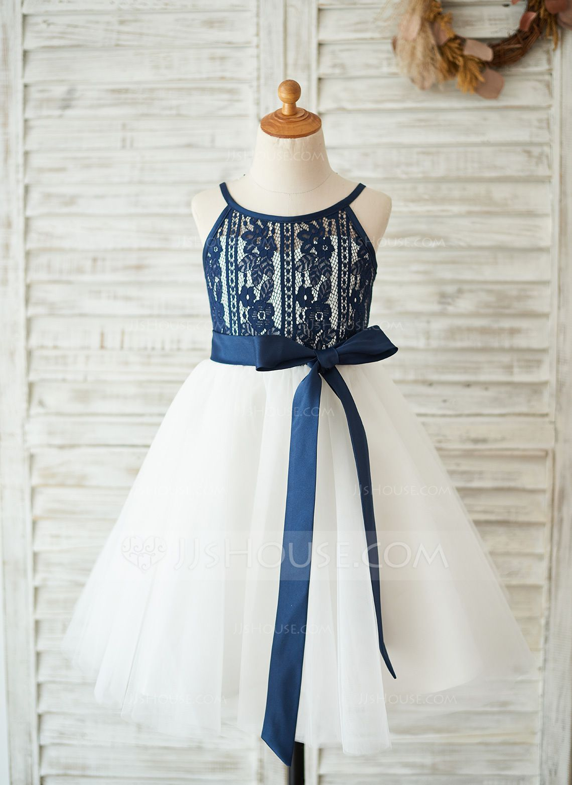 4aab49184 A-Line/Princess Knee-length Flower Girl Dress - Tulle/Lace Sleeveless