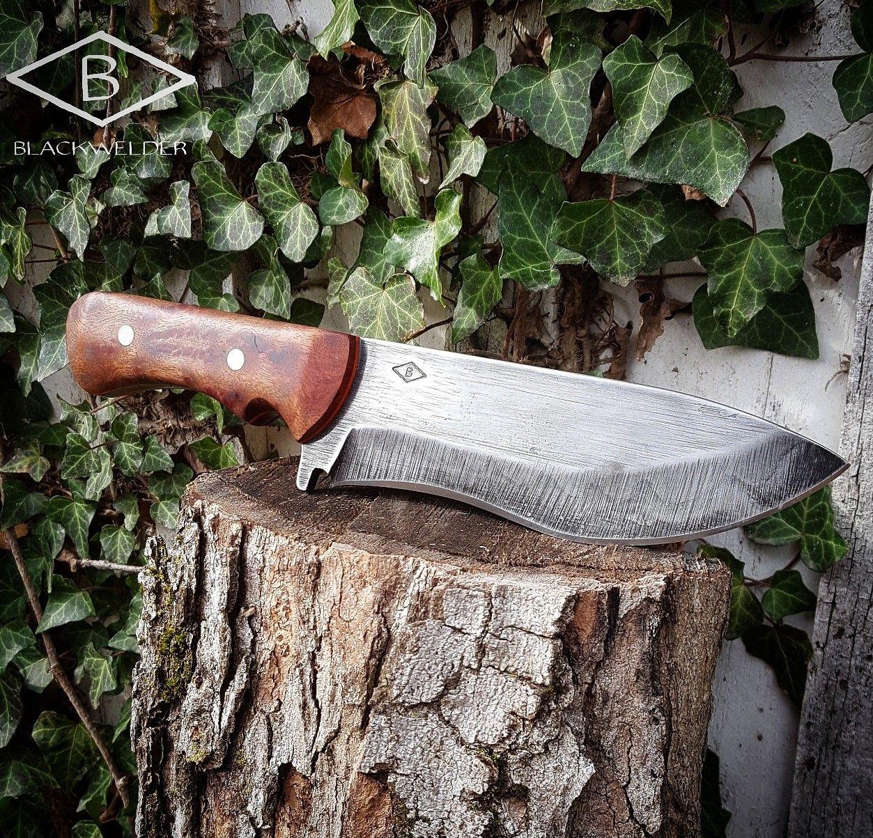 Hunter In 1084 Carbon Steel And Camphor Burl Handle By Blackwelder Knives Knife Knife Making Custom Knives