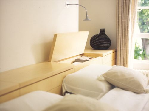 Sycamore bed head. Sycamore headboard with lift up storage and side cupboards. Oliver Peake. (via Ace Kryger / acenation - thefancy) & Sycamore bed head. Sycamore headboard with lift up storage and side ...