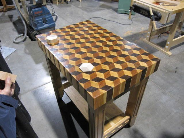 Butcher Blocks | Ryan Shervillu0027s Butcher Block Table.
