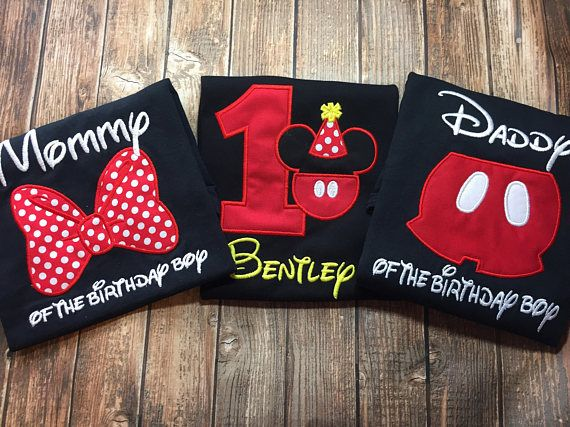 Custom Mickey Mouse Birthday Shirts With Matching Parent