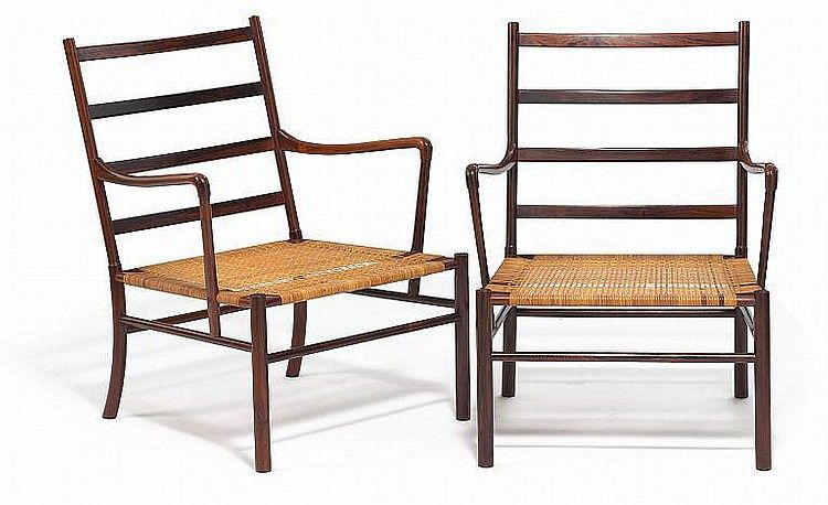 """Ole Wanscher: """"Colonial Chair"""". A pair of rosewood armchairs"""