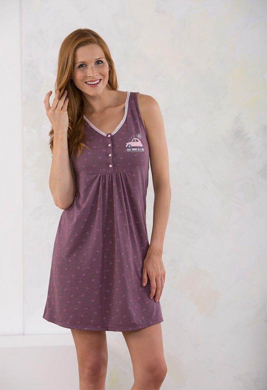 f260ff59b Perfumería El Ajuar - Ficha de producto - Camisola mujer massana verano  FIAT 500 - Homewear - Pijamas y camisones mujer verano