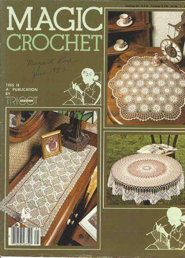 Magic Crochet nº 25 - leila tkd - Álbuns da web do Picasa  Mostly bedspreads and larger table cloths.