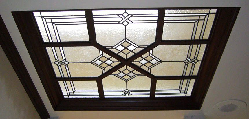 Architectural Leaded Glass Skylights And Ceilings By C Stanton Herbert Studios Skylight Stained Glass Door Glass Roof