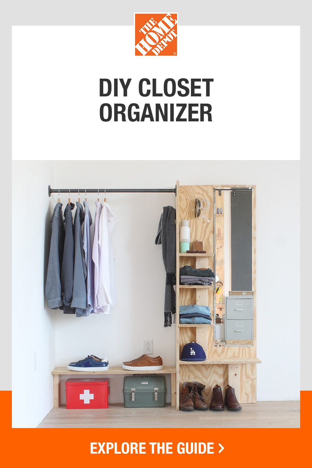 Make your morning routine a bit easier with a DIY closet organizer. The Home Depot guide provides step-by-step instructions on how to maximize your storage space and make existing spaces more functional—all with minimal tools. Click to start this simple DIY project with The Home Depot.