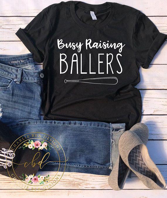 3cfd4280 Busy Raising Ballers Shirt - Boy Mom Shirt - Boy Mama - Baseball Mom Shirt  - Baseball Mom - Baseball