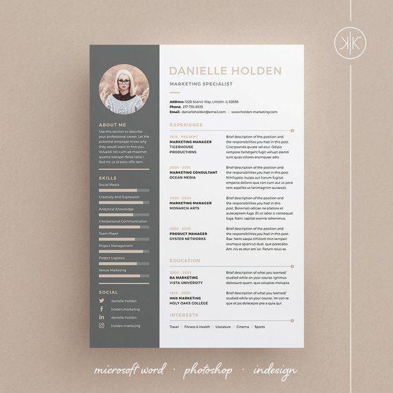 Danielle Resume CV Template